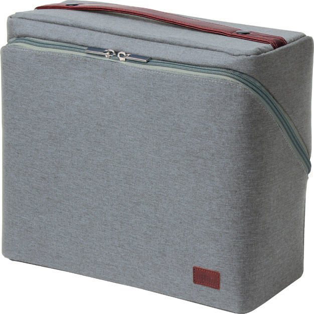 (まとめ買い)ソニック ユートリム ビジネスバッグ スマ・スタ A4ボックス グレー UT-2159-GL 〔3個セット〕【北海道・沖縄・離島配送不可】