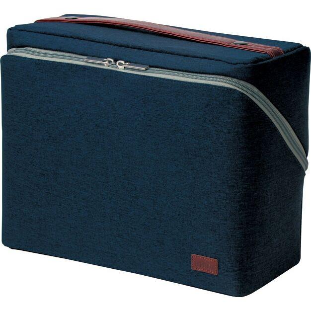 (まとめ買い)ソニック ユートリム ビジネスバッグ スマ・スタ A4ボックス ネイビー UT-2159-K 〔3個セット〕【北海道・沖縄・離島配送不可】
