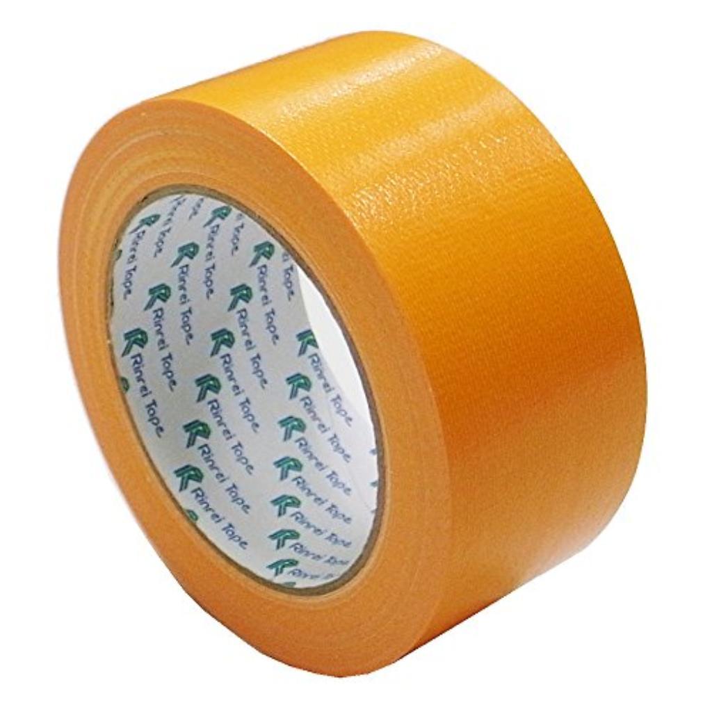 リンレイ 布カラーテープ #384布カラー (オレンジ)サイズ50X25m 〔まとめ買い30巻セット〕 【代引不可】【北海道・沖縄・離島配送不可】
