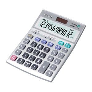 【送料無料】(まとめ買い)カシオ カシオデスク型電卓 DS-20WK 〔3台セット〕