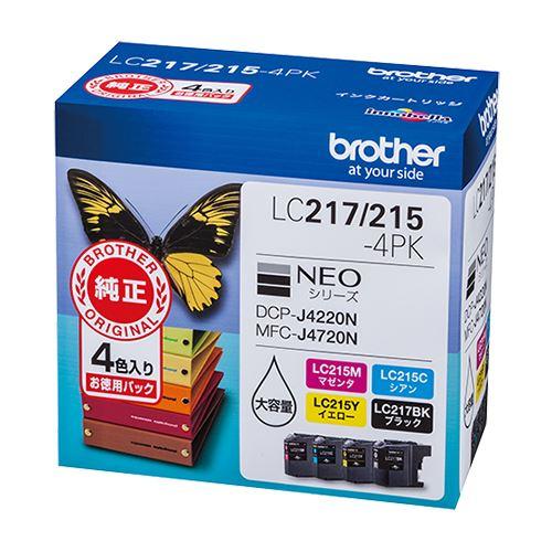 【送料無料 〔×3〕】(まとめ買い)ブラザー 4個パック インクカートリッジ LC217/215-4PK 4個パック LC217/215-4PK 〔×3〕, 大川家具@館Shop:ff1e85b9 --- m2cweb.com