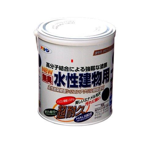 (まとめ買い)アサヒペン NEW水性建物用 チョコレート色1.6L 〔3缶セット〕