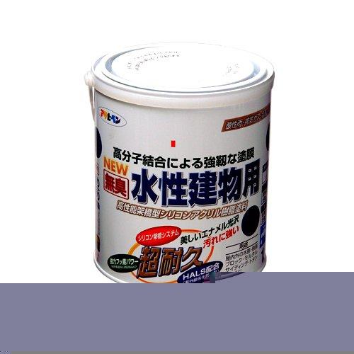 (まとめ買い)アサヒペン NEW水性建物用 こげ茶1.6L 〔3缶セット〕