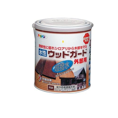 (まとめ買い)アサヒペン 水性ウッドガード外部用 ウォルナット 1.6L 〔3缶セット〕【北海道・沖縄・離島配送不可】