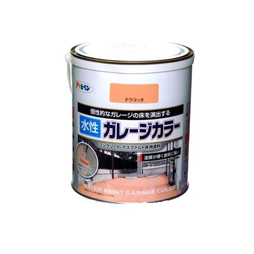 (まとめ買い)アサヒペン 水性ガレージカラー テラコッタ 1.6L 〔3缶セット〕