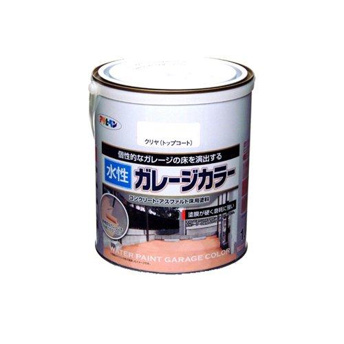 (まとめ買い)アサヒペン 水性ガレージカラー クリヤ(トップコート) 1.6L 〔3缶セット〕【北海道・沖縄・離島配送不可】