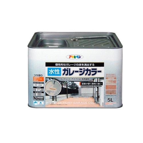 (まとめ買い)アサヒペン 水性ガレージカラー サハラゴールド 5L 〔3缶セット〕【北海道・沖縄・離島配送不可】
