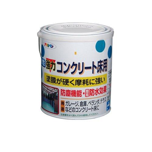 (まとめ買い)アサヒペン 水性強力コンクリート床用 ライトグリーン 1.6L 〔3缶セット〕