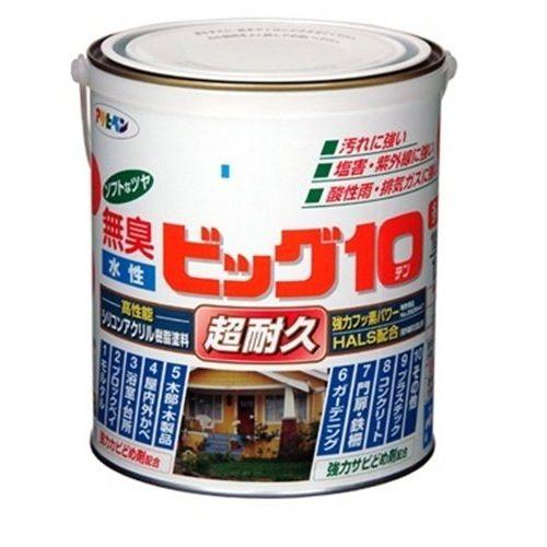 (まとめ買い)アサヒペン 水性ビッグ10多用途 201赤 1.6L 〔3缶セット〕