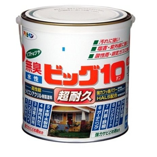 (まとめ買い)アサヒペン 水性ビッグ10多用途 242ブラウン 1.6L 〔3缶セット〕【北海道・沖縄・離島配送不可】