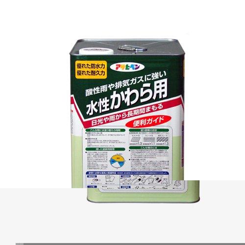 (まとめ買い)アサヒペン 水性かわら用 14L 銀黒 〔3缶セット〕【北海道・沖縄・離島配送不可】
