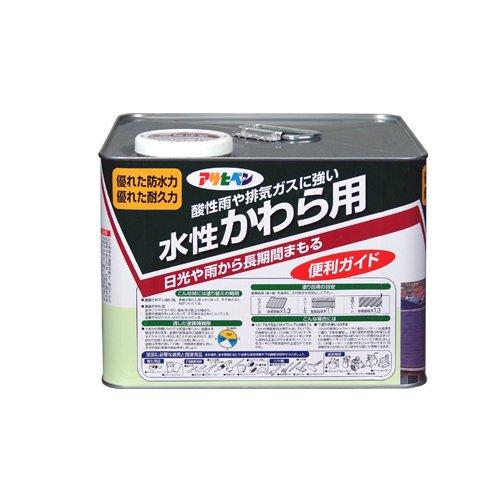 (まとめ買い)アサヒペン 水性かわら用 日本瓦銀 7L 〔3缶セット〕【北海道・沖縄・離島配送不可】