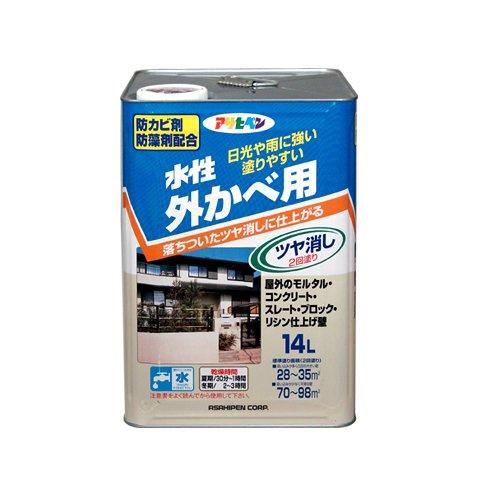 (まとめ買い)アサヒペン 水性外かべ用 アイボリー 14L 〔3缶セット〕【北海道・沖縄・離島配送不可】