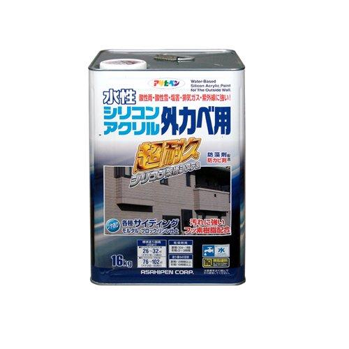 (まとめ買い)アサヒペン 水性シリコンアクリル外かべ用 ホワイト 16KG 〔3缶セット〕【北海道・沖縄・離島配送不可】