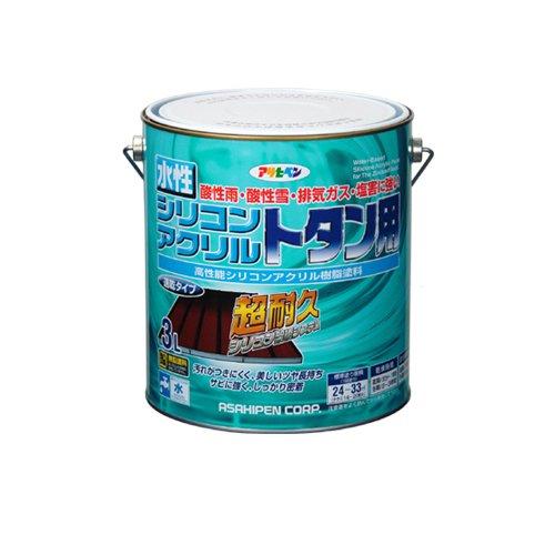 (まとめ買い)アサヒペン 水性シリコンアクリルトタン用 オーシャンブルー 3L 〔3缶セット〕【北海道・沖縄・離島配送不可】