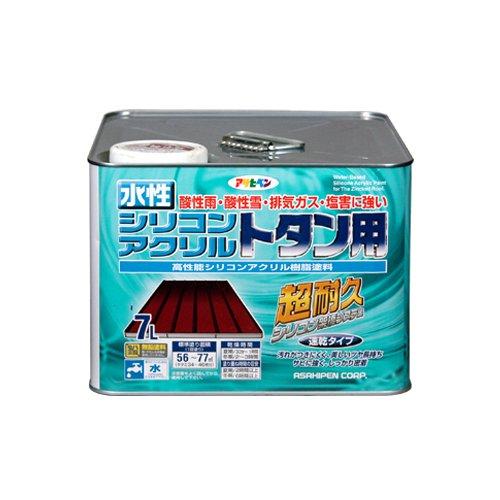 素晴らしい外見 水性シリコンアクリルトタン用 (まとめ買い)アサヒペン 7L グレー 〔3缶セット〕【北海道・沖縄・離島配送】:フジックス-DIY・工具