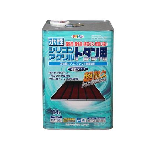 (まとめ買い)アサヒペン 水性シリコンアクリルトタン用 スカイブルー 14L 〔3缶セット〕【北海道・沖縄・離島配送不可】