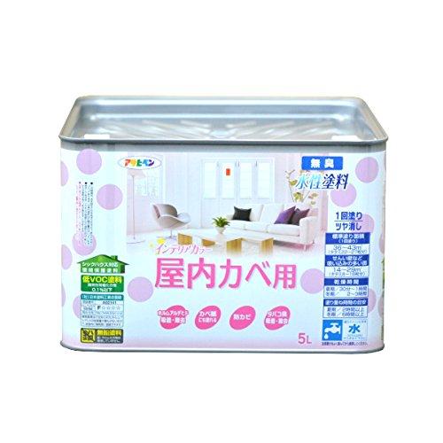 (まとめ買い)アサヒペン NEW水性インテリアカラー屋内カベ 5L ホワイトイエロー 〔3缶セット〕【北海道・沖縄・離島配送不可】