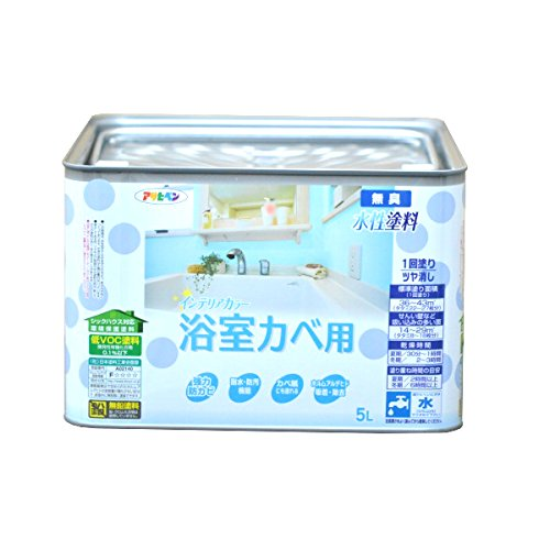 (まとめ買い)アサヒペン NEW水性インテリアカラー浴室カベ 5L パールホワイト 〔3缶セット〕【北海道・沖縄・離島配送不可】