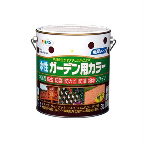 (まとめ買い)アサヒペン 水性ガーデン用カラー パイン 3L 〔3缶セット〕【北海道・沖縄・離島配送不可】