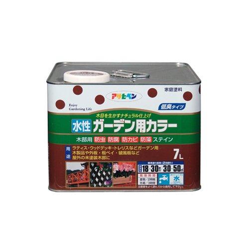 (まとめ買い)アサヒペン 水性ガーデン用カラー ウォルナット 7L 〔3缶セット〕【北海道・沖縄・離島配送不可】