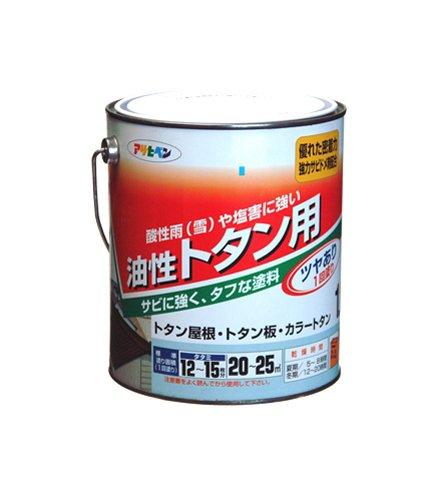 (まとめ買い)アサヒペン 油性トタン用 1.8L 赤さび 〔3缶セット〕