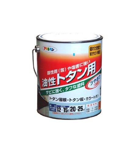 (まとめ買い)アサヒペン 油性トタン用 1.8L こげ茶 〔3缶セット〕【北海道・沖縄・離島配送不可】
