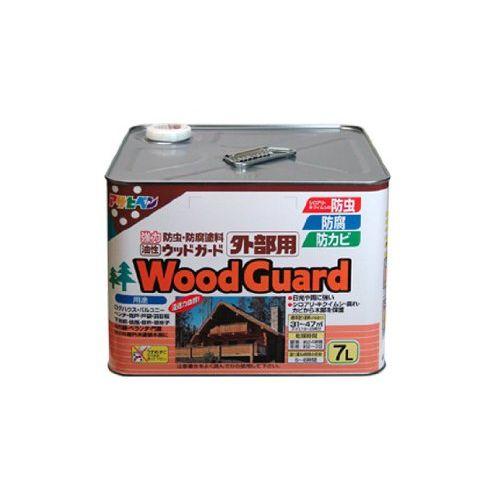 (まとめ買い)アサヒペン ウッドガード外部用 7L クリヤ 01 〔3缶セット〕【北海道・沖縄・離島配送不可】