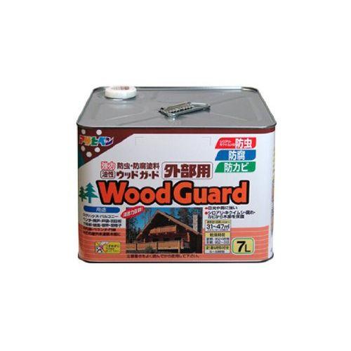 (まとめ買い)アサヒペン ウッドガード外部用 7L チーク 03 〔3缶セット〕【北海道・沖縄・離島配送不可】