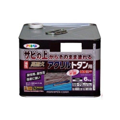 【送料無料】(まとめ買い)アサヒペン 油性高耐久アクリルトタン用 6KG スカイブルー 〔3缶セット〕