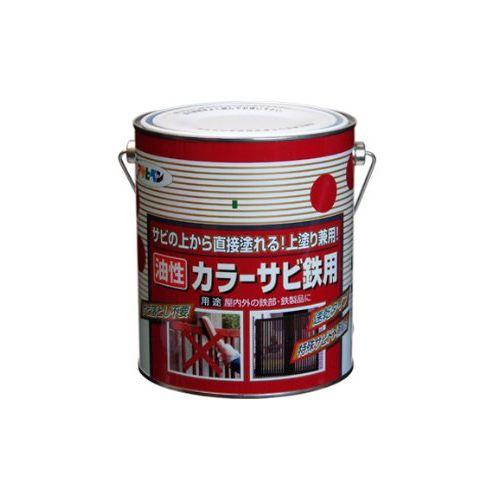 (まとめ買い)アサヒペン カラーサビ鉄用 1.6L グリーン 〔3缶セット〕【北海道・沖縄・離島配送不可】
