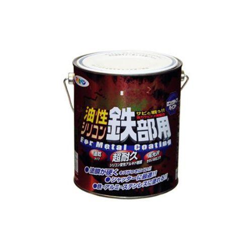 (まとめ買い)アサヒペン 油性シリコン鉄部用 1.6L 黄色 〔3缶セット〕【北海道・沖縄・離島配送不可】