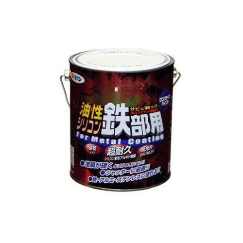 (まとめ買い)アサヒペン 油性シリコン鉄部用 1.6L こげ茶 〔3缶セット〕