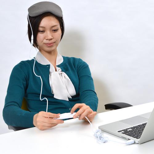 Sanko USB热的眼睛口罩,晚安,有计时器的USBEYEW4