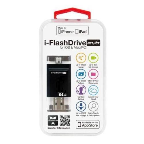 【送料無料】Photofast i-FlashDrive EVO for iOS&Mac/PC Apple社認定 LightningUSBメモリー 64GB IFDEVO64GB【代引不可】