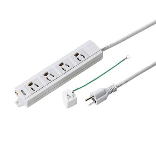 (まとめ買い)サンワサプライ 電源タップ TAP-MG341N2-3(821) 00029050 〔3個セット〕