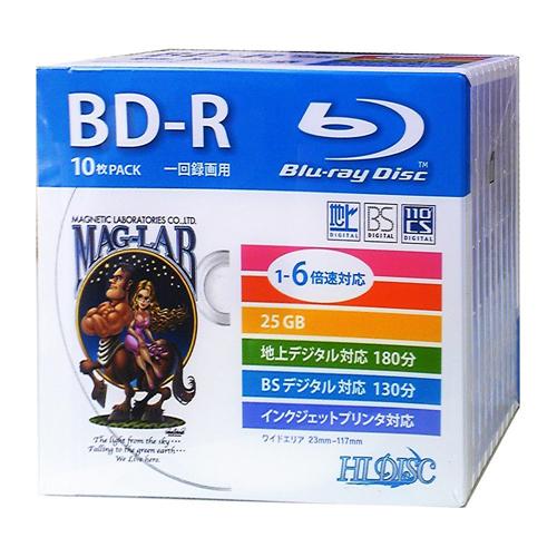 HIDISC BD-R 録画用5mmスリムケース10P HDBD-R6X10SC