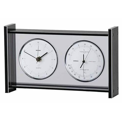 EMPEX スーパーEX ギャラリー温度・湿度・時計 シルバー EX-792【代引不可】