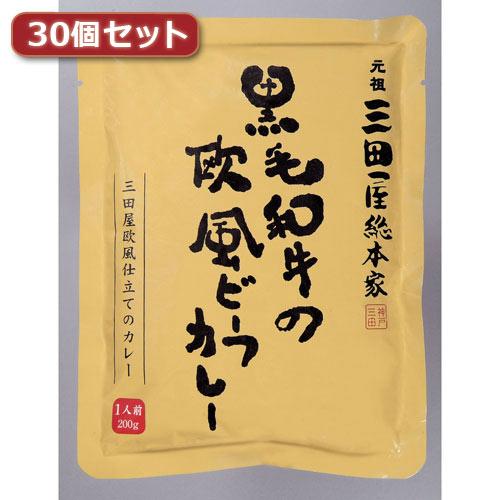 【送料無料】三田屋総本家 黒毛和牛の欧風ビーフカレー30個セット AZB7166X30【代引不可】