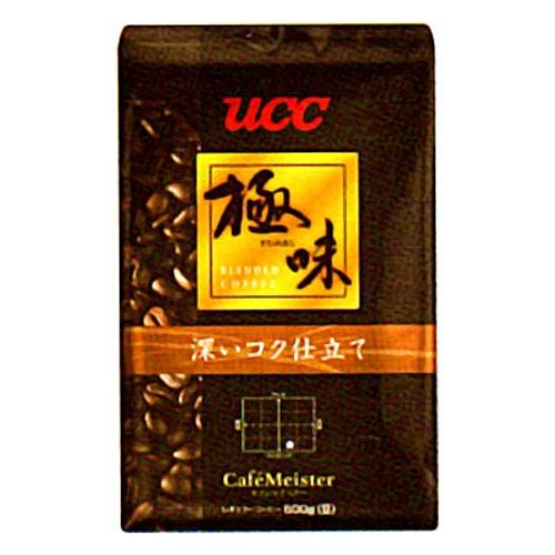 【送料無料】UCC上島珈琲 UCC極味 深いコク仕立て(豆)AP500g 12袋入り UCC310480000【代引不可】