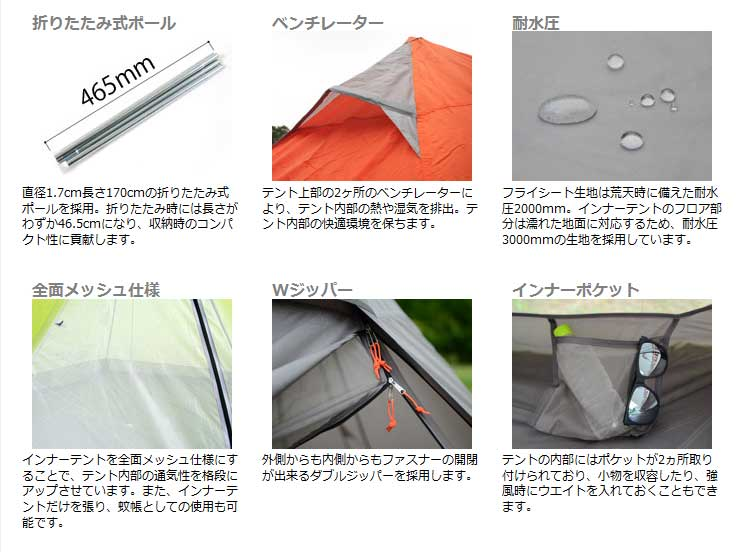 分身室外一杆帐篷 T3-12/T3-44/T3-62