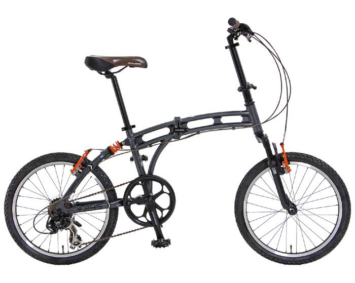 【送料無料】DOPPELGANGER(ドッペルギャンガー) 20インチ 折りたたみ自転車 7段変速 アルミフレーム 245 ZERO POINT【代引不可】