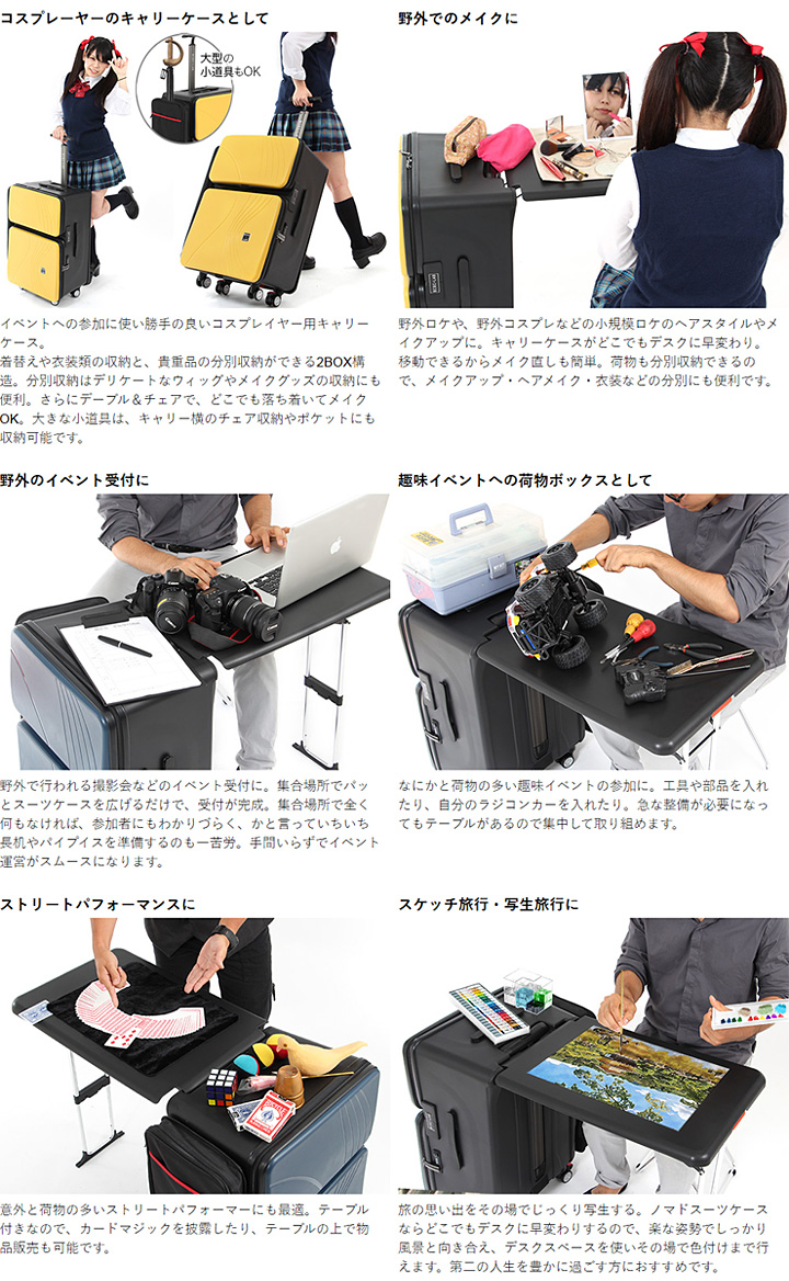BIBI 实验室游牧设置带手提箱的案例 BG2 办公桌。