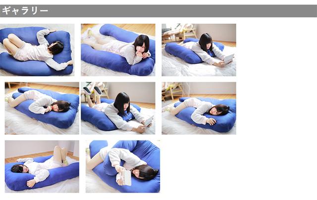 BIBI LAB(二二实验室)巨大的拥抱枕头改良版的双尾被夹住枕头TM2-28