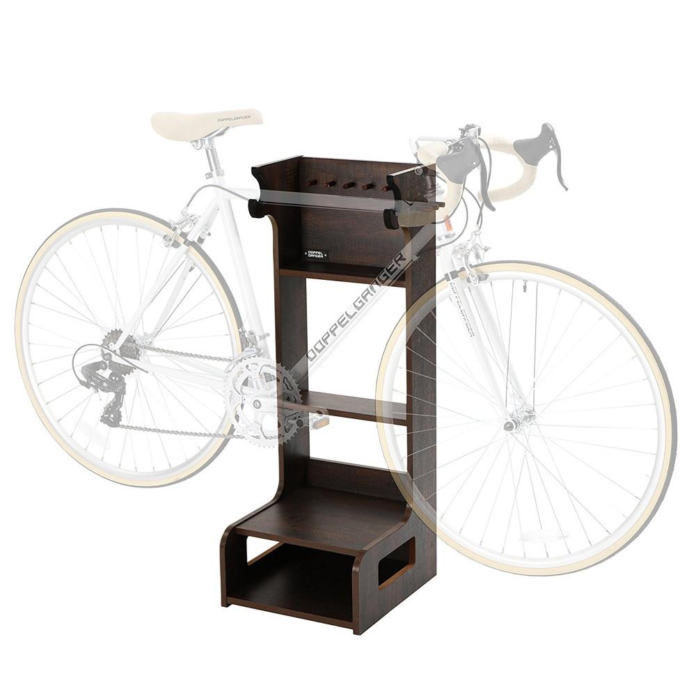 DOPPELGANGER(ドッペルギャンガー) バイシクルレスト シェルフタイプ 自転車家具 ディスプレイ スタンド 室内保管 ブラウン DDS465-BR【代引不可】
