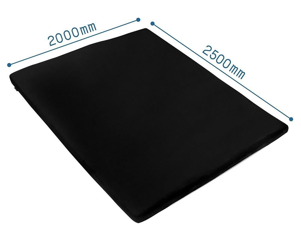 【送料無料】Bauhutte (バウヒュッテ) 極厚&特大 厚み8cmウレタン 洗える 部屋ごとベッドラグ 200×250cm ブラック BBR-250-BK【代引不可】