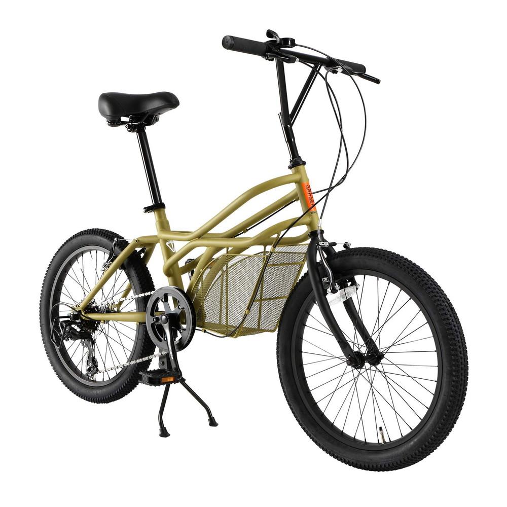 【送料無料】ドッペルギャンガー(DOPPELGANGER) 20インチ カーゴバイク ROADYACHTシリーズ シマノ7段変速 独自開発ミッドキャビン搭載フレーム 330-C-BG ベージュ【代引不可】