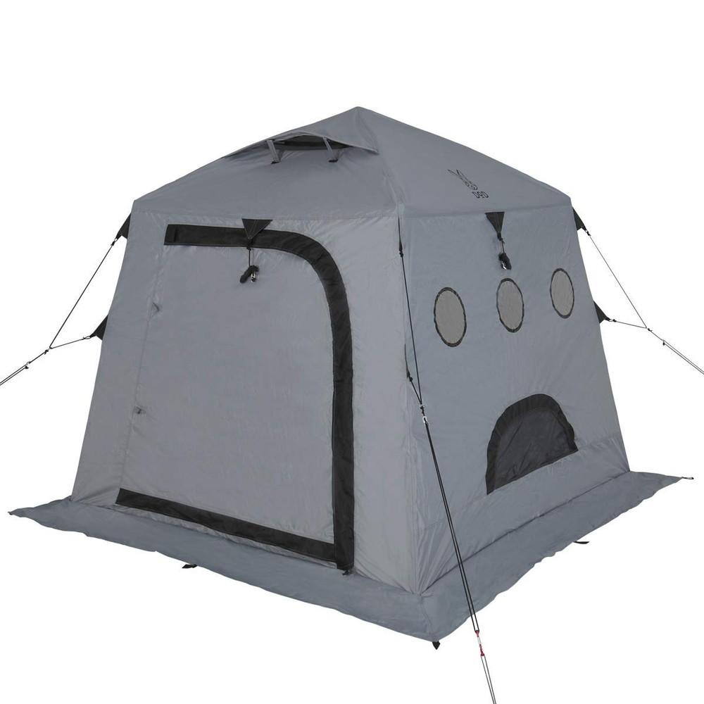 【送料無料】DOD(ディーオーディー) サブマリンテント ワカサギ釣り 1-2人用 テント ワンタッチ構造 で 簡単 組み立て T2-608-GY グレー【代引不可】