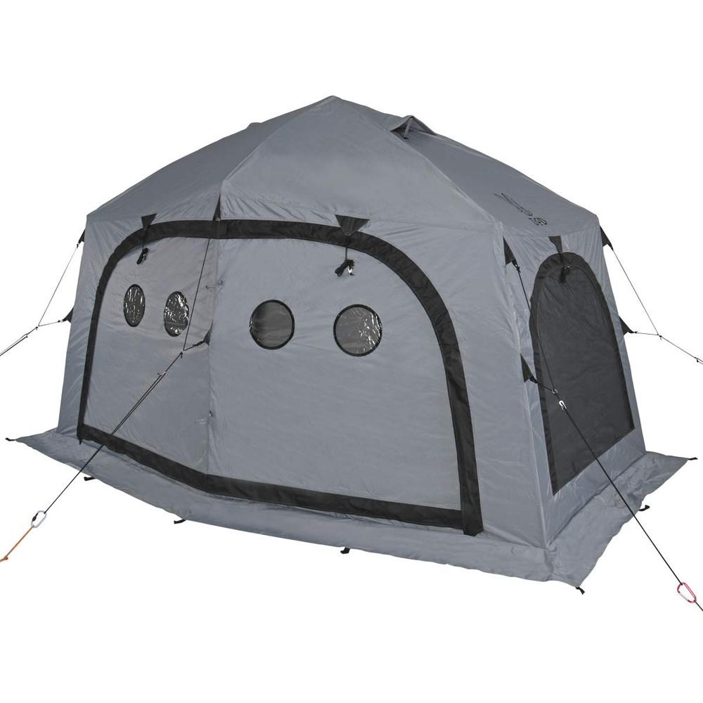 【送料無料】DOD(ディーオーディー) サブマリンテント ワカサギ釣り 3-4人用 テント ワンタッチ構造 で 簡単 組み立て (L) T4-609-GY グレー【代引不可】