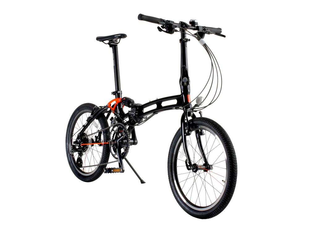 【送料無料】GREAT THING グレートシング オブ・ドッペルギャンガー 折り畳み式自転車ブラック 215-X-DP【代引不可】